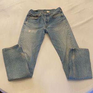 LEVI'S 501 Button Fly Men's Jeans, Size 31 x 36
